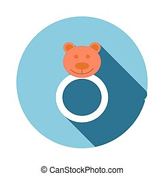 Baby beanbag icon, flat style - Baby beanbag icon in flat...