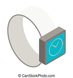 The smart watch icon, isometric 3d style - The smart watch...