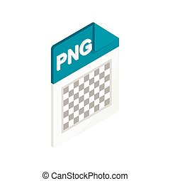 PNG image file extension icon, isometric 3d style - PNG...