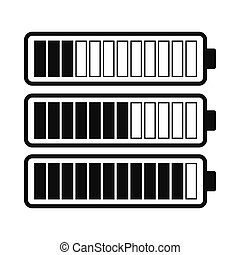 Battery with different level of charge icon