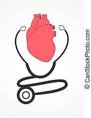 Cardiologist - Pictogram of a stethoscope and a heart. For...