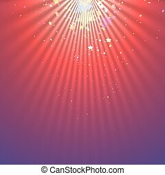 Abstract light beams with falling stars - Spotlight abstract...