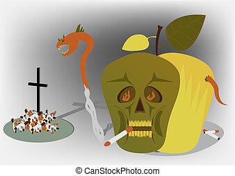 no smoke - The vector illustration on a theme to smoke...