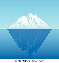 Iceberg - Illustration of an iceberg