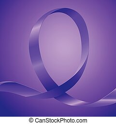 Awareness Purple Ribbon - Purple ribbon, background template...