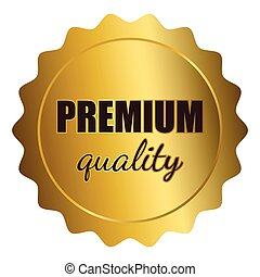 Premium Quality Stamp - Graphic illustration of golden seal...