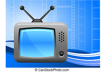 television on film reel background