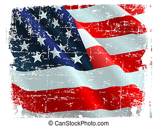 USA flag - This illustration of USA flag can be used for...