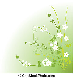 Green blossoms