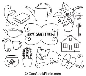 Home Sweet home - Home Sweet Home ,set of vector design...