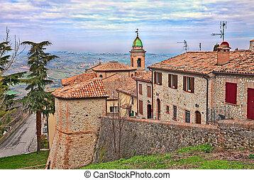 Sogliano al Rubicone, Emilia Romagna, Italy - landscape from...