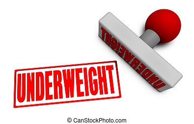 Underweight Stamp or Chop on Paper Concept in 3d