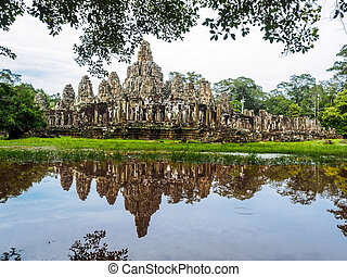 Ankor Thom in Siem Reap, Cambodia
