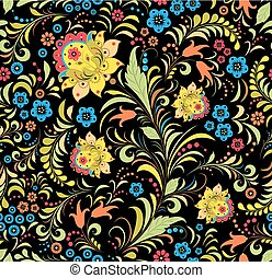 traditional russian floral ornament