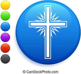 cross icon on round internet button original vector...
