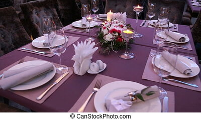 luxury festive table laid for an important event wedding or presentation