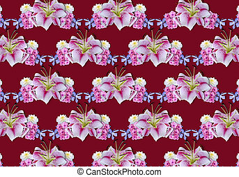 Vinous background with white lilie - Abstract vinous...
