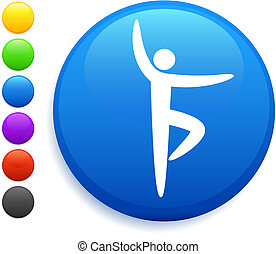 ballet icon on round internet button original vector...