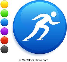 patinação, botão, ícone, redondo,  Internet
