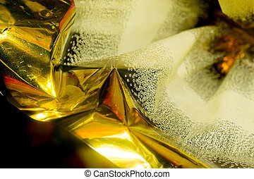 Decorative Golden Wrapper - Bright decorative golden wrapper...