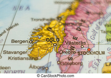 Norway country map .
