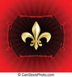 fleur de lis on red internet background - Original Vector...