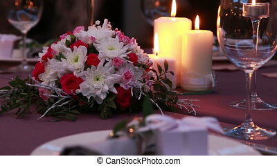 Beautiful Expensive Table Serving For A Romantic Dinner With...