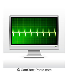 pulse on computer screen monitor