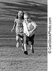 Little Kids Running
