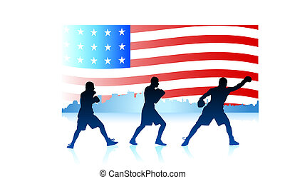 American patriotic boxing background