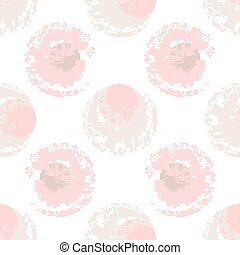 Pink and beige blots on white background