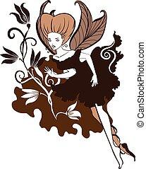 Chocolate Fairy vector illustartion