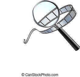 Film: a closer look - Original Vector Illustration: Film: a...