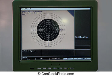 Training and competition of air rifle - 10m target monitor...