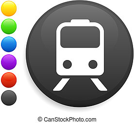 subway icon on round internet button original vector...