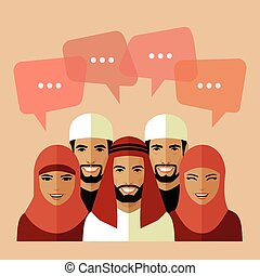 flat muslim avatars, - set of flat muslim avatars, vector...