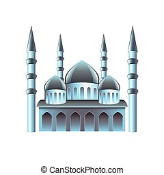 Mosque icon isolated on white vector - Mosque icon isolated...