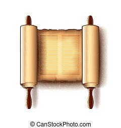 Torah isolated on white vector - Torah isolated on white...