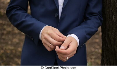 Man Wear a Suite, Correct Clothes, Fees Groom, Wedding...