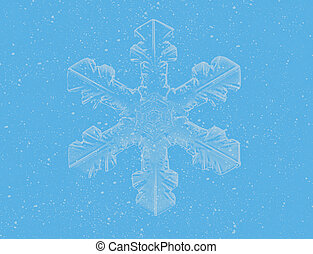 Lite Blue Snowflakes on blue background