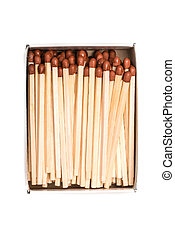 Box of matches with white background