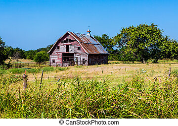 Old Abandonded Barn in Oklahoma - Old Abandoned Barn in a...