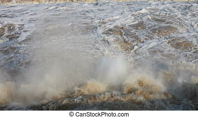 Wild flood water - Wild effervescent water after...