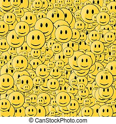 Happy face background
