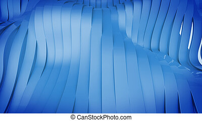 3D render of Wavy band surface Modern Background