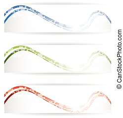 Abstract design bright banners background