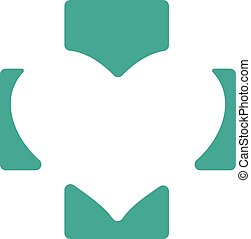 Abstract medical green pharmacy sign