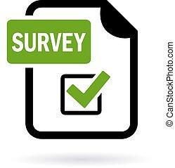 Survey icon isolated on white background
