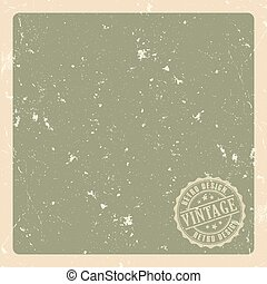 Old retro green paper background vector illustration