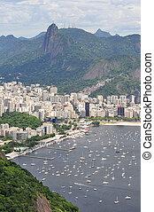 View of the beach Botafogo, Rio de Janeiro, Brazil